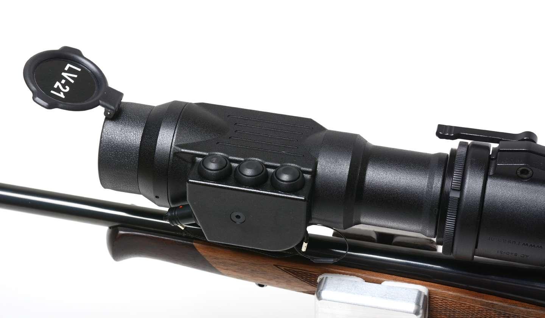 Zielfernrohr Mit Entfernungsmesser Reinigen : Nighthunter wärmebild vorsatz lv 21 nachtsicht